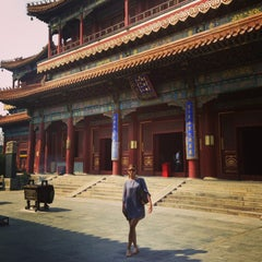Photo taken at 雍和宫 Yonghegong Lama Temple by Valentina K. on 9/2/2013