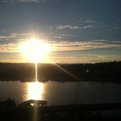 Photo taken at Ship Canal Bridge by Will G. on 9/28/2012