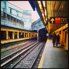 Photo taken at MTA Subway - Church Ave (B/Q) by 🔌Malectro 7. on 3/27/2013