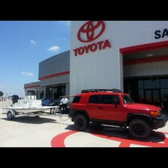 Photo taken at San Marcos Toyota by Charles C. on 8/9/2014
