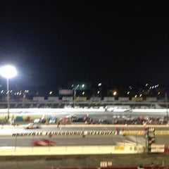 Photo taken at Nashville Fairgrounds Speedway by Greg K. on 10/5/2012