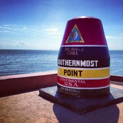 Photo taken at Southernmost Point Continental USA by Brian S. on 11/3/2012