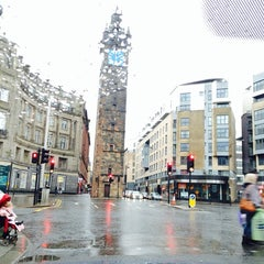 Photo taken at Glasgow Cross by Sophia N. on 12/24/2013