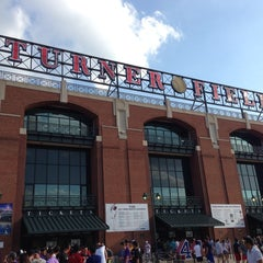 Photo taken at Turner Field by Rachel P. on 6/4/2013