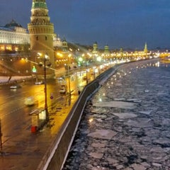 Photo taken at Большой Каменный мост / Bolshoy Kamenny Bridge by Andrey I. on 2/2/2013
