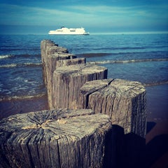 Photo taken at Blériot Plage by Moonsieur P. on 10/10/2013