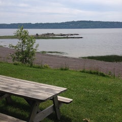 Photo taken at Plage Jacques Cartier by Patrick G. on 6/28/2014