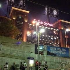Photo taken at MetroLink - Stadium Station by Camille S. on 5/29/2014