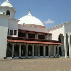 Photo taken at Masjid Agung Al-Falah by Rosa Y. on 3/23/2013