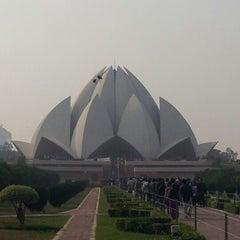 Photo taken at Lotus Temple (Bahá'í House of Worship) by Anjela U. on 11/24/2012