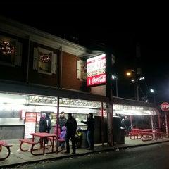 Photo taken at Pat's King of Steaks by Jon P. on 12/23/2012