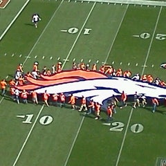 Photo taken at Sports Authority Field at Mile High by connie D. on 10/1/2012