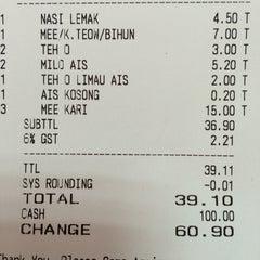 Photo taken at Restoran Tu Dia ... Pak Tam by Kamarul A. on 10/14/2015