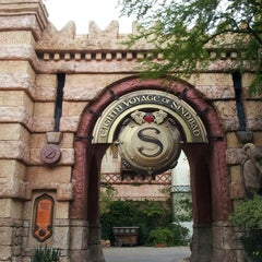 Photo taken at The Eighth Voyage Of Sindbad Stunt Show by Carlos M. on 4/21/2013