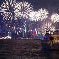 Photo taken at Victoria Harbour 維多利亞港 by Karina O. on 10/1/2012