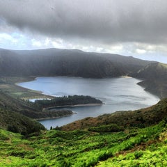 Photo taken at Miradouro da Lagoa do Fogo by Ksenia K. on 10/24/2013