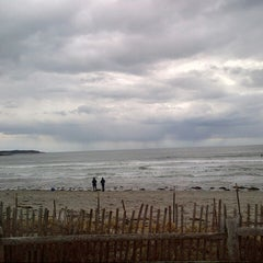 Photo taken at Higgins Beach by Chad S. on 4/14/2013