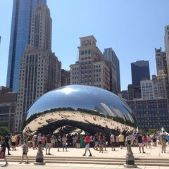 Photo taken at Cloud Gate by Silvia D. on 7/20/2013