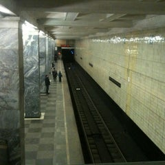 Photo taken at Метро Сокольники (metro Sokolniki) by Dariya S. on 12/25/2012