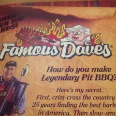 Photo taken at Famous Dave's by John C. on 12/24/2012
