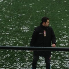 Photo taken at Abdurrahman Temel Futbol Sahası by Cankat on 12/23/2012