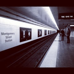 Photo taken at Montgomery St. BART Station by Joseph T. on 9/19/2012