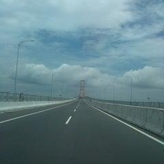 Photo taken at Jembatan Suramadu (Suramadu Bridge) by Irvan S. on 1/16/2013