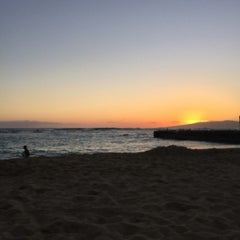 Photo taken at Kaimana Beach Park by Courtney W. on 6/3/2015
