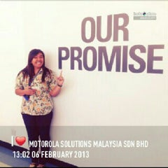 Photo taken at Motorola Solutions Malaysia Sdn Bhd by Ira C. on 2/6/2013
