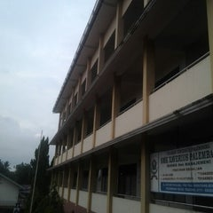 Photo taken at SMK Xaverius 1 by Natalia V. on 1/29/2013