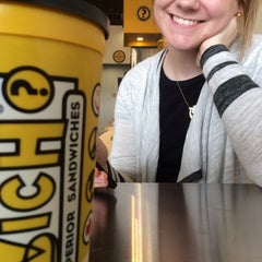 Photo taken at Which Wich? Superior Sandwiches by Kaitlin M. on 2/5/2014