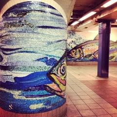 Photo taken at MTA Subway - Delancey St/Essex St (F/J/M/Z) by Izzy D. on 1/8/2013