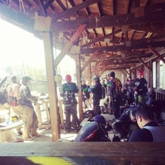 Photo taken at Al Limite Paintball by Gina S. on 4/14/2013