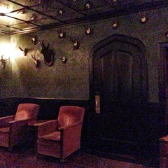 Photo taken at Bowery Hotel Lobby Bar by Kate D. on 11/12/2012