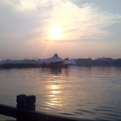 Photo taken at Ancol Beach by Azkania F. on 11/15/2012