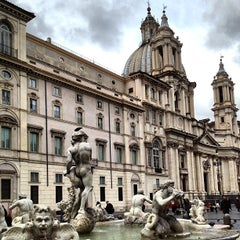 Photo taken at Piazza Navona by Kate on 3/25/2013