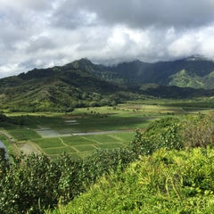 Photo taken at Hanalei Valley Lookout by Kirkwood J. on 6/10/2015