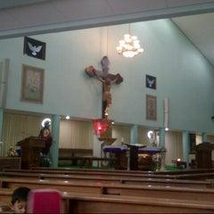 Photo taken at Gereja Hati Yesus yang Maha Kudus by AGUSTINUS R. on 7/28/2013
