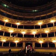 Photo taken at Teatro Sociale di Mantova by Francesco A. on 10/20/2014