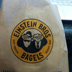 Photo taken at Einstein Bros Bagels by Erik S. on 6/18/2015