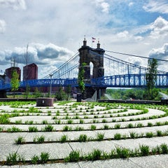 Photo taken at John A. Roebling Suspension Bridge by Kick L. on 5/3/2013