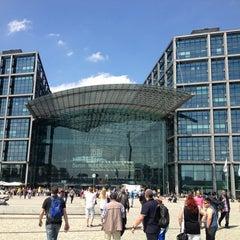 Photo taken at Berlin Hauptbahnhof by Konstantin S. on 5/19/2013