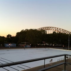 Photo taken at Astoria Park Pool by KT L. on 10/5/2011