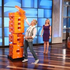 Photo taken at The Ellen DeGeneres Show by JENGA® on 4/14/2012