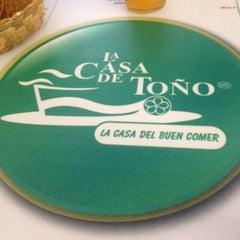 Photo taken at La Casa de Toño by Marisol O. on 5/23/2012