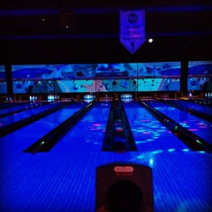Photo taken at Mel's Lone Star Lanes by Erica M. on 8/5/2012