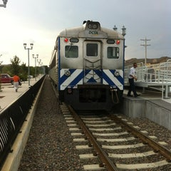 Photo taken at DCTA MedPark Station (A-train) by Hunter B. on 6/5/2012