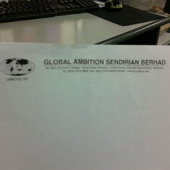 Photo taken at global ambition sdn bhd by Epy K. on 2/3/2012