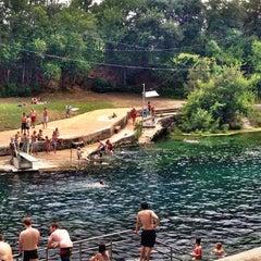 Photo taken at Barton Springs Pool by Athena A. on 7/17/2013