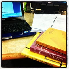 Photo taken at Robinson Library by Ayaka I. on 3/13/2013